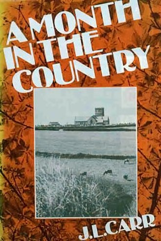 A Month in the Country (novel) - Dust jacket of first edition – 1980