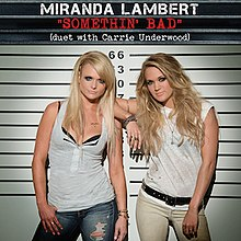 A single cover for the song somethin' bad by Miranda Lambert.jpg