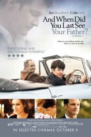 And When Did You Last See Your Father? - Theatrical release poster