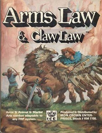 Arms Law - Image: Arms Law, rpg supplement