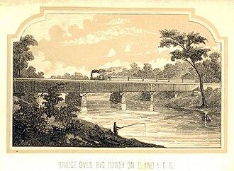 Little Miami Railroad - Image: Big Darby Bridge C and X RR