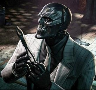 Black Mask (comics) - Roman Sionis / Black Mask in a promotional image for Batman: Arkham Origins (2013).