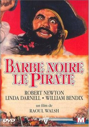 Blackbeard the Pirate - DVD Cover for French film version