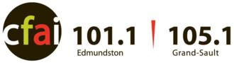 CFAI-FM - Image: CFAI 101.1 105.1 logo