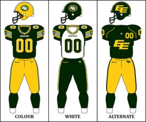2015 Edmonton Eskimos season - Image: CFL EDM Jersey 2014
