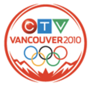 Canada's Olympic Broadcast Media Consortium - CTV's logo for coverage of the 2010 Winter Olympics; on other channels, the appropriate channel logo replaces the CTV mark.