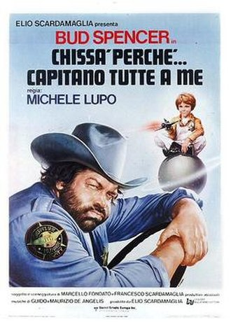 Everything Happens to Me (1980 film) - Italian theatrical release poster by Renato Casaro