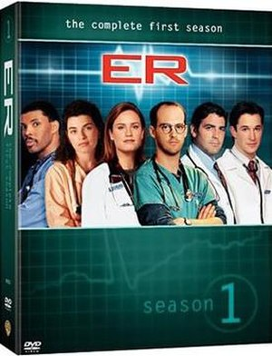 ER (season 1) - Image: DVD Season 1 Cover (EUA)