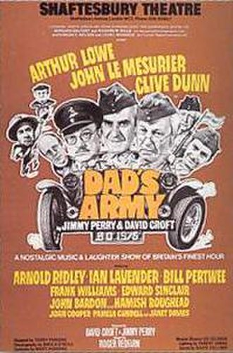 Dad's Army - A poster advertising the stage show
