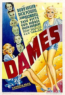 <i>Dames</i> 1934 film by Busby Berkeley, Ray Enright