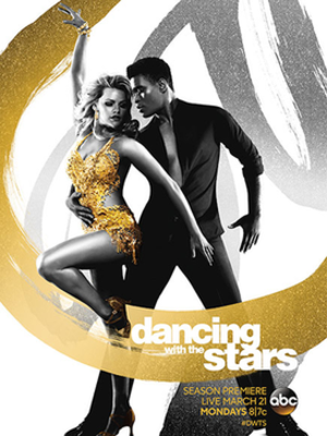 Dancing with the Stars (U.S. season 22) - Promotional poster, featuring pro dancers Witney Carson and Keoikantse Motsepe