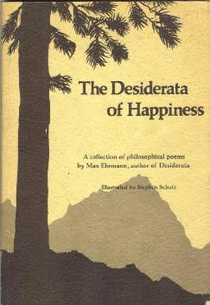 Desiderata - 1976 edition of The Desiderata of Happiness poetry collection