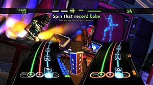 DJ Hero 2 - DJ Hero 2 includes support for three players to play at the same time - two on turntables and one vocalist.