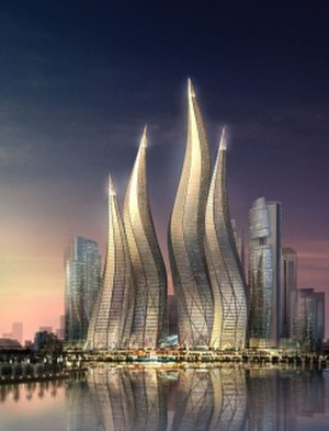 Dubai Towers Dubai - Rendering of the Complex