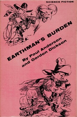 Earthman's Burden - Dust-jacket from the first edition