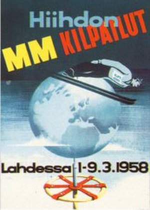 FIS Nordic World Ski Championships 1958 - Image: FIS Nordic WSC 1958 poster
