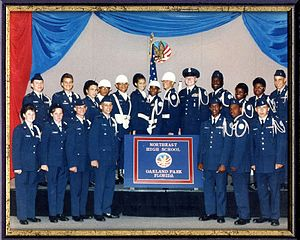 Northeast High School (Oakland Park, Florida) - Image: FL 822Nationals 1991