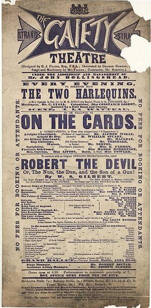Robert the Devil (Gilbert) - Programme for 1869 production