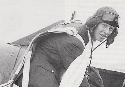 Wetherby-born World War Two flying ace 'Ginger' Lacey, in about 1940 Ginger Lacey.jpg