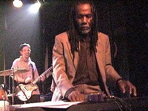 Glen Adams - Glen Adams performing with The Slackers in 2002