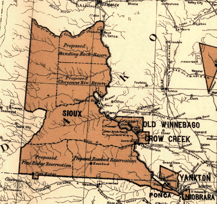 Great Sioux reservation in 1888