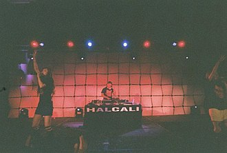 Halcali - Halcali with DJ Kimjun performing at Anime Central in Chicago, May 16, 2008