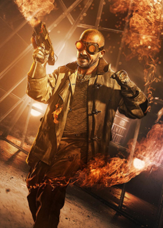 Heat Wave (comics) - Dominic Purcell as Heat Wave on the television series The Flash.
