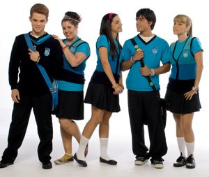 Isa TKM - The cast of Isa TKM (from left to right) Willy Martin as Rey Galán, Micaela Castelotti as Linda Lunda, Maria Gabriela de Faria as Isa Pasquali, Reinaldo Zavarce as Alex Ruiz and Milena Torres as Cristina Ricalde.