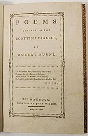 Title page of the Kilmarnock Edition.