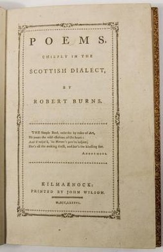 Kilmarnock volume - Poems, Chiefly in the Scottish Dialect, first edition.