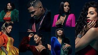 Love & Hip Hop: Atlanta - The cast of the seventh season, from left to right, top to bottom: Karlie, Tommie, Stevie J, Mimi, Rasheeda, Jessica Dime and Erica Mena.