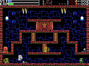 La-Mulana - Lemeza in the Mausoleum of the Giants zone.