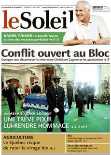 <i>Le Soleil</i> (Quebec) French-language daily newspaper in Quebec City, Canada