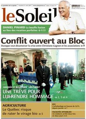 Le Soleil (Quebec) - Image: Lesoleil