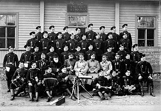 1st His Majesty's Life Guards Rifle Regiment - Officers of the regiment in 1909