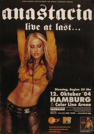 Live at Last Tour - Promotional poster for tour
