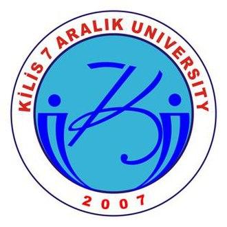 Kilis - Logo of Kilis 7 Aralık University