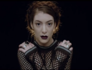 "Tennis Court (song) - The music video is a one-shot in which Lorde looks into the camera, lip-synching to a repeated ""Yeah!"", but no other lyrics."