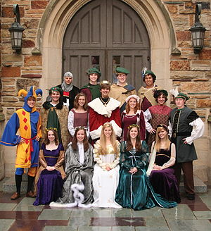 Madrigal dinner - A typical choir dressed for a madrigal dinner.