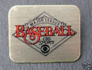 Major League Baseball on CBS - Major League Baseball on CBS media pin.