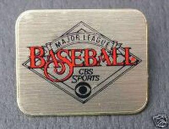Major League Baseball on CBS - Major League Baseball on CBS media pin.