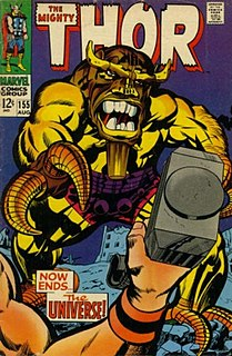 Mangog Villain from Marvels Thor comics