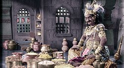 A photograph of Telugu actor S. V. Ranga Rao as Ghatotkatcha
