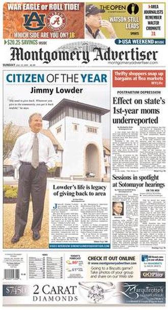 Montgomery Advertiser - Image: Montgomery newspaper