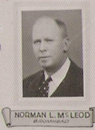Norman Leslie McLeod - Portrait taken from 1934 Province of Saskatchewan 8th legislative assembly