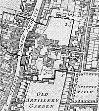 Norton Folgate in 1681