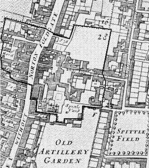 Liberty of Norton Folgate - Norton Folgate in 1681