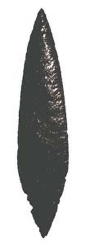 History of the Americas - Obsidian projectile point from Puerta Parada, Guatemala