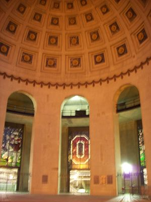 Ohio Stadium - The rotunda at night