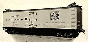 Western Refrigerator Line - Image: Pacific Fruit Express car